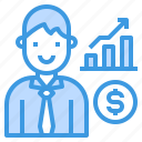 analysis, graph, management, performance, report icon