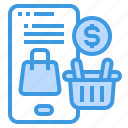 marketing, online, payment, shopping, smartphone icon