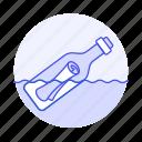 bad, bottle, bottled, business, communication, failures, letter, lost, message, ocean, sea icon
