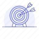 business, dart, arrow, target, shoot, goal, objective, strategy icon
