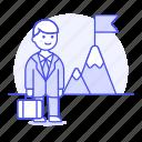 business, businessman, challenge, journey, man, mountain, peak, pursuit, startup, strategy, undertake