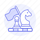 2, approach, board, business, chess, game, plan, strategy, tactic icon