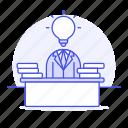 business, creative, desk, idea, ideas, light, lightbulb, office, solution, work