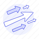 arrows, business, flying, go, growth, increase, profit, success, up icon