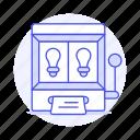 brainstorm, business, generator, idea, ideas, light, lightbulb, machine, random, slot icon