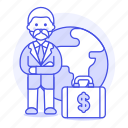 briefcase, business, cash, global, international, man, money, people, trip, world