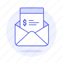 bill, business, email, invoice, invoicing, letter, mail icon
