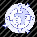 business, circulation, currency, globe, metaphors, money, world