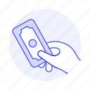 1, business, cash, contracts, deals, dollar, hand, hold, money, payment icon