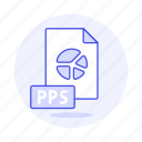 2, business, file, format, point, power, pps, presentation, slides icon