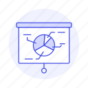 business, chart, graph, pie, presentation, projection, projector, screen icon
