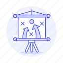 board, business, easel, plan, presentation, project, strategy icon