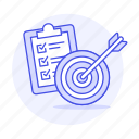 agenda, business, checklist, do, list, objective, strategy, target, to icon
