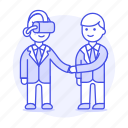 1, agreement, assistant, augmented, business, contracts, deals, man, reality, virtual icon