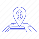 atm, bank, business, cooperative, local, location, map, money, pin icon