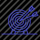 1, arrow, business, dart, goal, objective, shoot, strategy, target icon