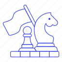 game, chess, plan, approach, strategy, tactic, board, business icon