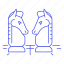 analysis, competition, business, strategy, chess, logic, board, challenge icon