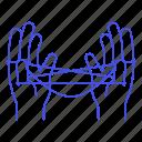 1, ayatori, business, figure, game, hand, metaphors, string, tangle icon