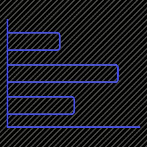 analytics, bar, business, chart, graph, horizontal icon