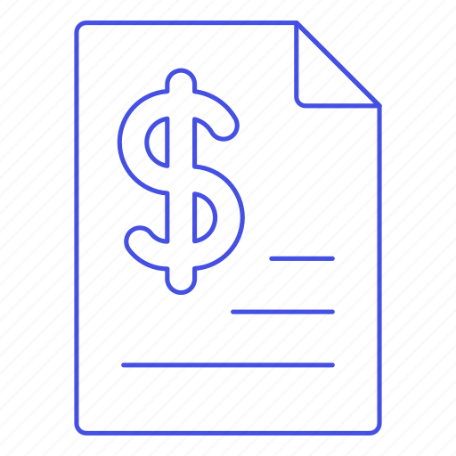 2, business, contract, document, dollar, file, invoice, invoicing, money, paper, receipt icon
