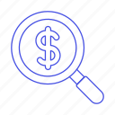 business, chance, metaphors, money, opportunity, scan, search icon