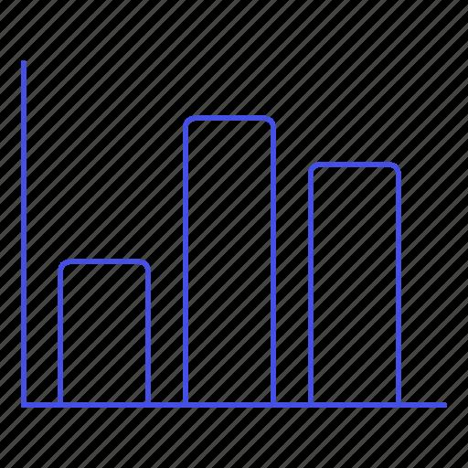 2, analytics, bar, business, chart, graph, vertical icon