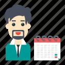 avatar, calendar, deadline, employee, user
