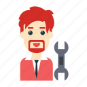 avatar, employee, fix, setting, user