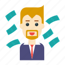 avatar, employee, money, pay, user