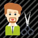 avatar, cut, employee, scissor, tax