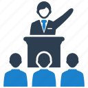 business, conference, meeting, speech icon