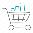 cart, finance, market, sales, shop, shopping, statistics icon