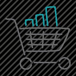 cart, finance, market, sales, shop, shopping, statistics icon