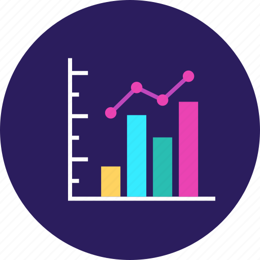 Bar, business, analytics, growth, infographics, seo, finance icon