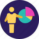 business, finance, graph, growth, pie, piechart, statistics icon