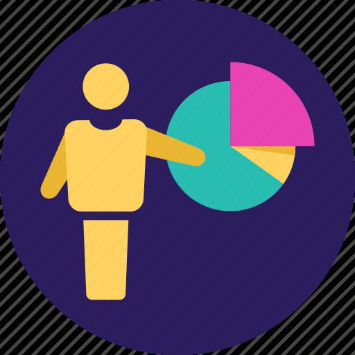 business, finance, graph, growth, pie, piechart, statistics icon