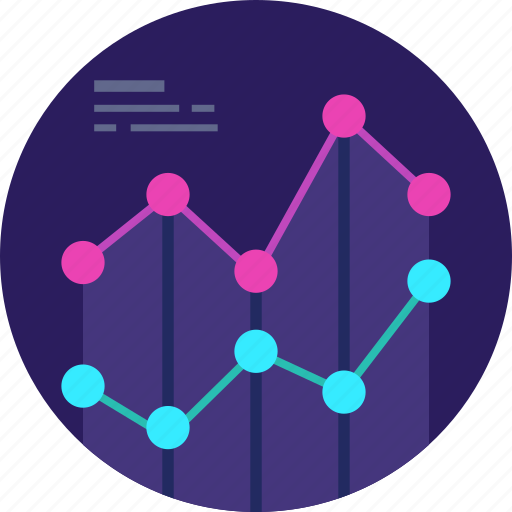Business, chart, pie, research, growth, market icon