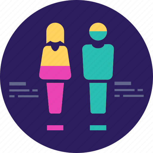 business, graph, man, people, report, survey, woman icon