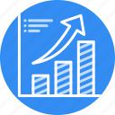 bars, financial, success, chart, growth, arrow