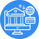 accounting, banking, international, internet, money, onlin icon