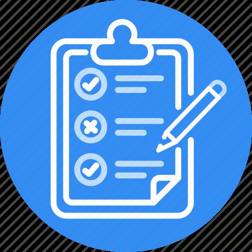 Checklist, list, task, programming, check icon