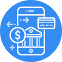 banking, mobile, money, pay, payment, phone, transfer icon