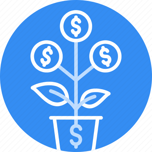 Bank, dollar, finance, grow, money, plant, tree icon - Download on Iconfinder