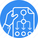 business, flow, plan, planing, process, project, strategy icon