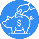 cash, deposit, money, pig, pigy, saving icon
