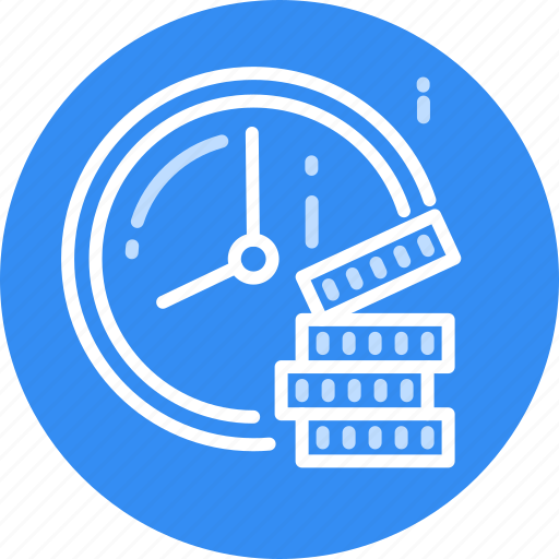 Salary, pay, money, dollar, savings, earnings, time icon - Download