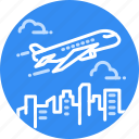 airplane, flight, fly, plane, transportation, travel, traveling icon