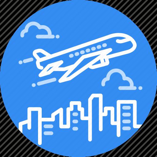 airplane, flight, fly, plane, transportation, travel, traveling icon