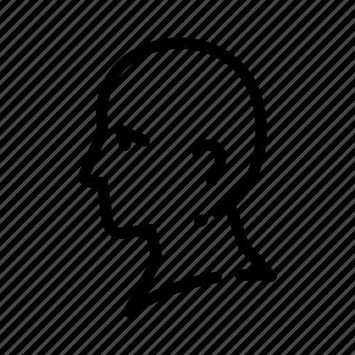 business, businessman, face, head, human, man, think icon